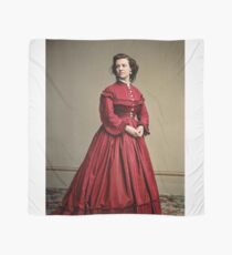 Pauline Cushman, actress and a spy for the Union in the Civil War. Made brevet Major by President Lincoln for her efforts in the war. 1865.  Scarf