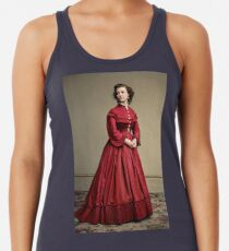 Pauline Cushman, actress and a spy for the Union in the Civil War. Made brevet Major by President Lincoln for her efforts in the war. 1865.  Racerback Tank Top