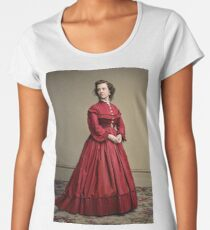 Pauline Cushman, actress and a spy for the Union in the Civil War. Made brevet Major by President Lincoln for her efforts in the war. 1865.  Premium Scoop T-Shirt