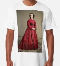 Pauline Cushman, actress and a spy for the Union in the Civil War. Made brevet Major by President Lincoln for her efforts in the war. 1865.  Long T-Shirt