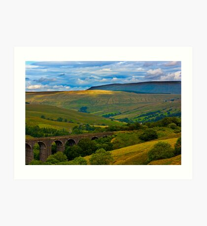 Above the Viaduct - Dentdale Art Print