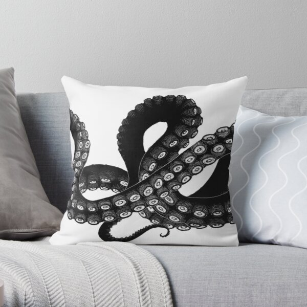 Get Kraken Throw Pillow