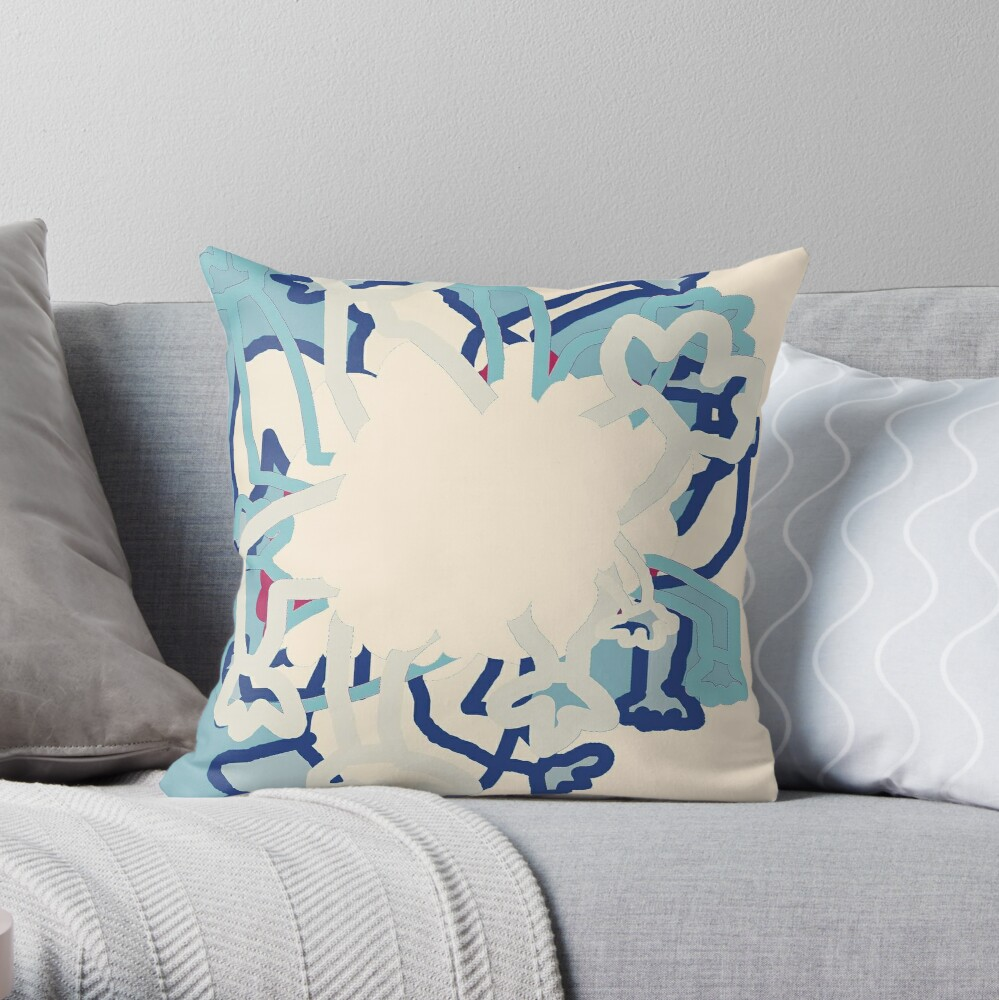 Digital Abstract Illustration, Rowdy Collection Designs Throw Pillow