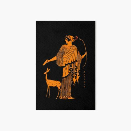 Artemis red figure ancient Greek design Art Board Print