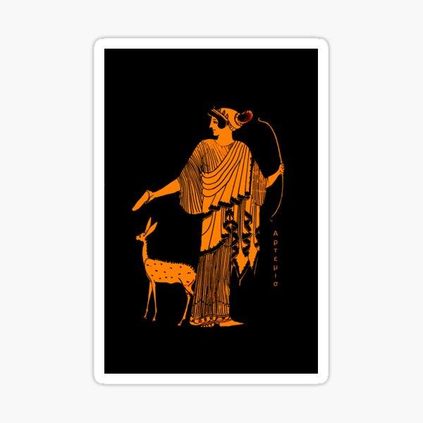 Artemis red figure ancient Greek design Sticker