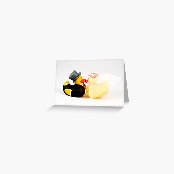 Wedding ducks in love! Greeting Card