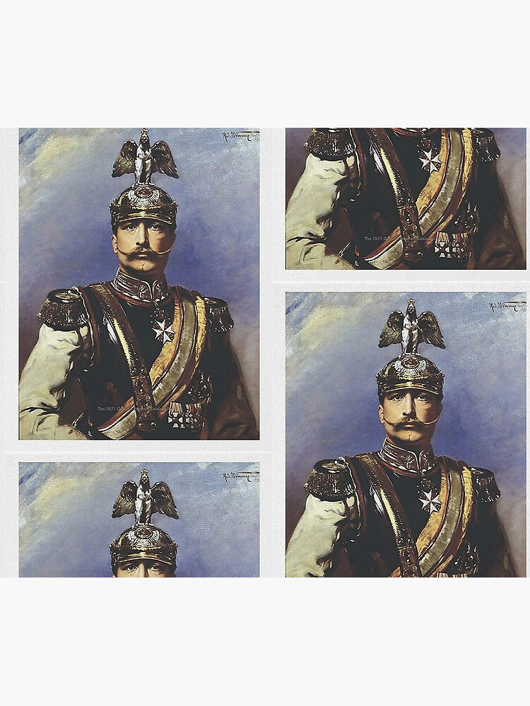 Kaiser Wilhelm II with Prussian Royal Guards helmet  by edsimoneit