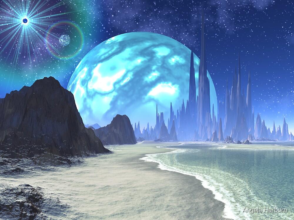 Quot Twin Suns Over Alien Ocean World Quot By Angela Harburn