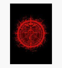 Human Transmutation Circle. Fullmetal Alchemist Photographic Print