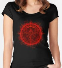 Human Transmutation Circle. Fullmetal Alchemist Women's Fitted Scoop T-Shirt