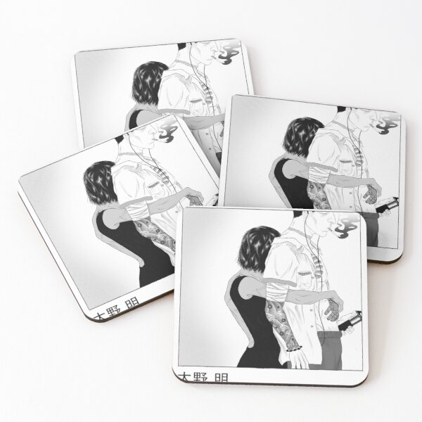 Tashi and Akira Coasters (Set of 4)