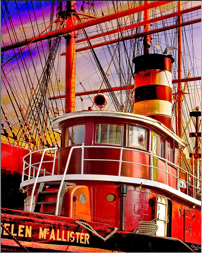 The Tug Boat Helen McAllister by Chris Lord