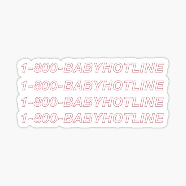 1-800-babyhotline  Sticker