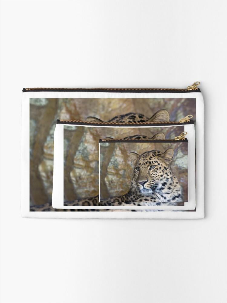 Alternate view of leopard  Zipper Pouch