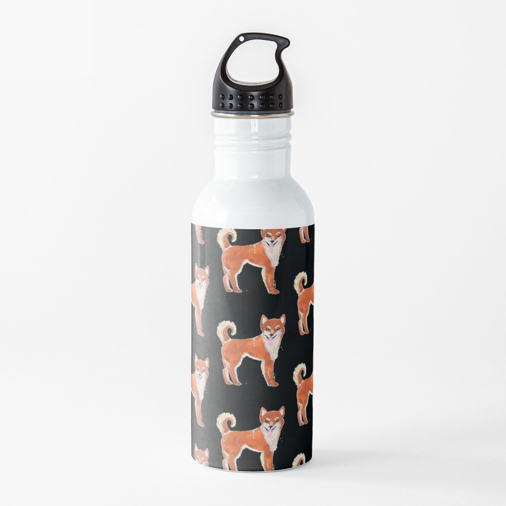 Shiba Inu Dog Illustration Water Bottle