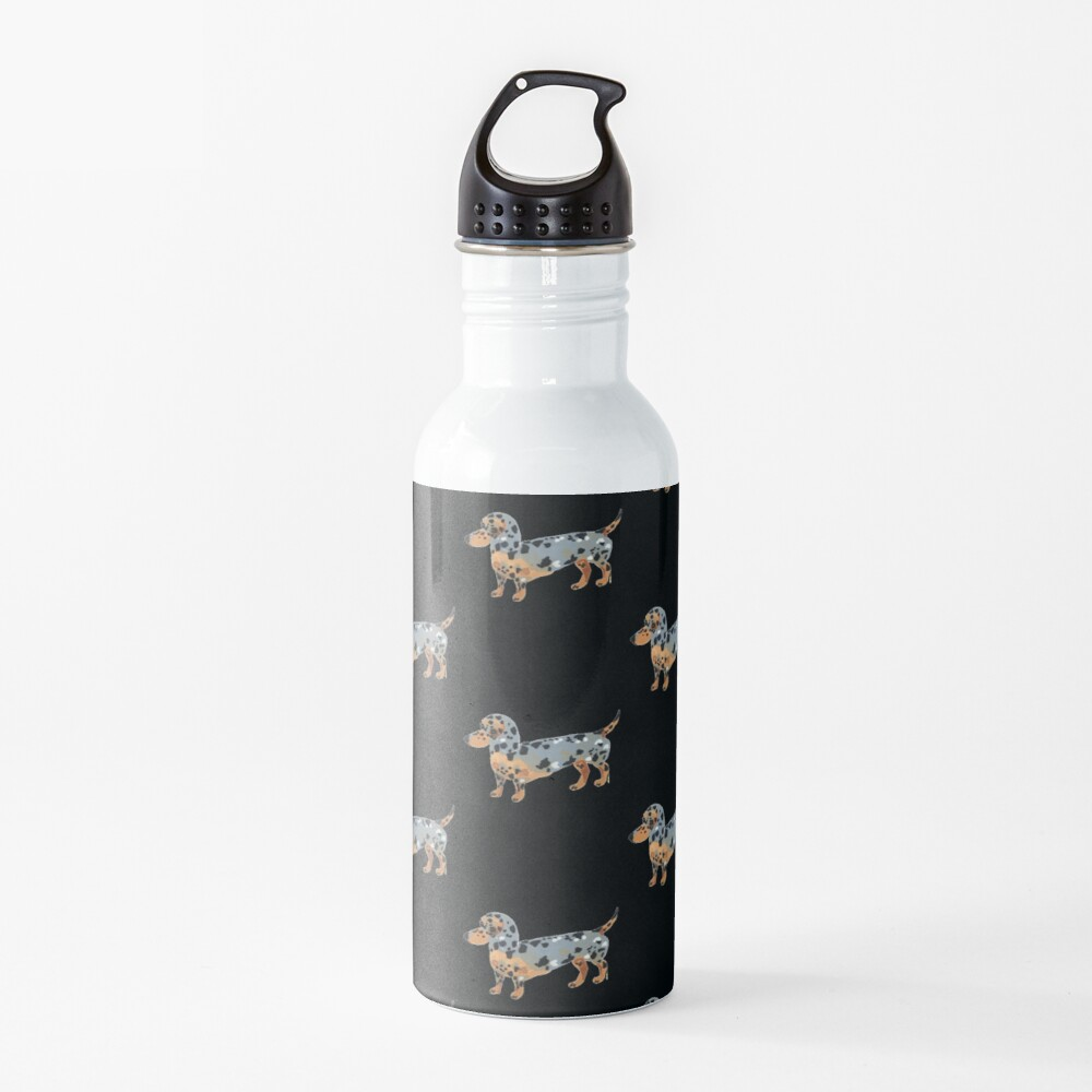 Dachshund Dog Illustration Water Bottle