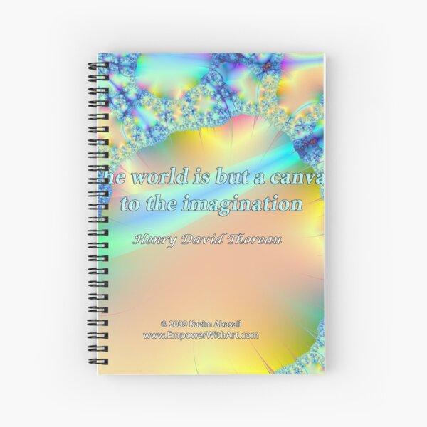 World Is But A Canvas Spiral Notebook