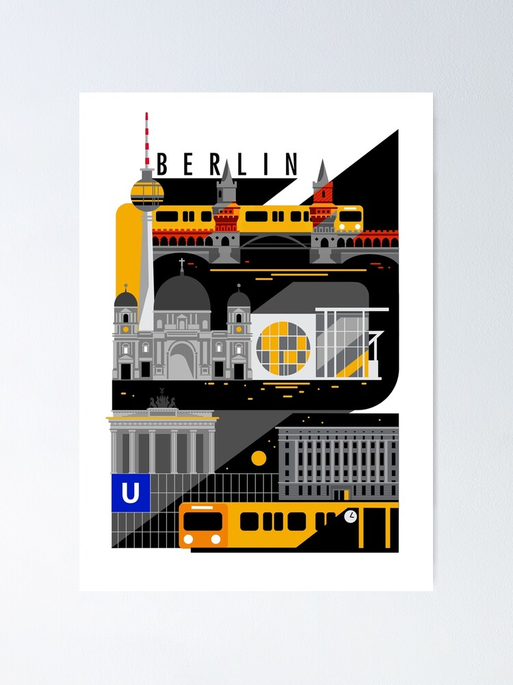 Alternate view of Berlin bei Nacht Poster
