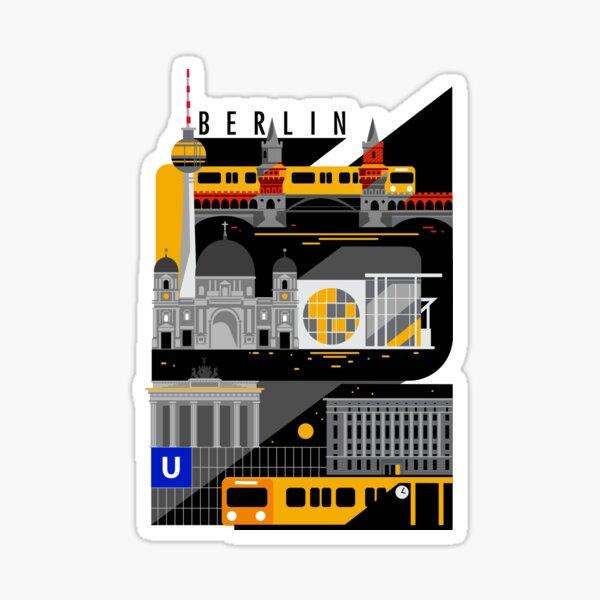 Berlin bei Nacht Sticker