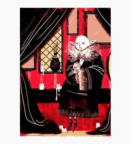 Vampire Sitting Photographic Print