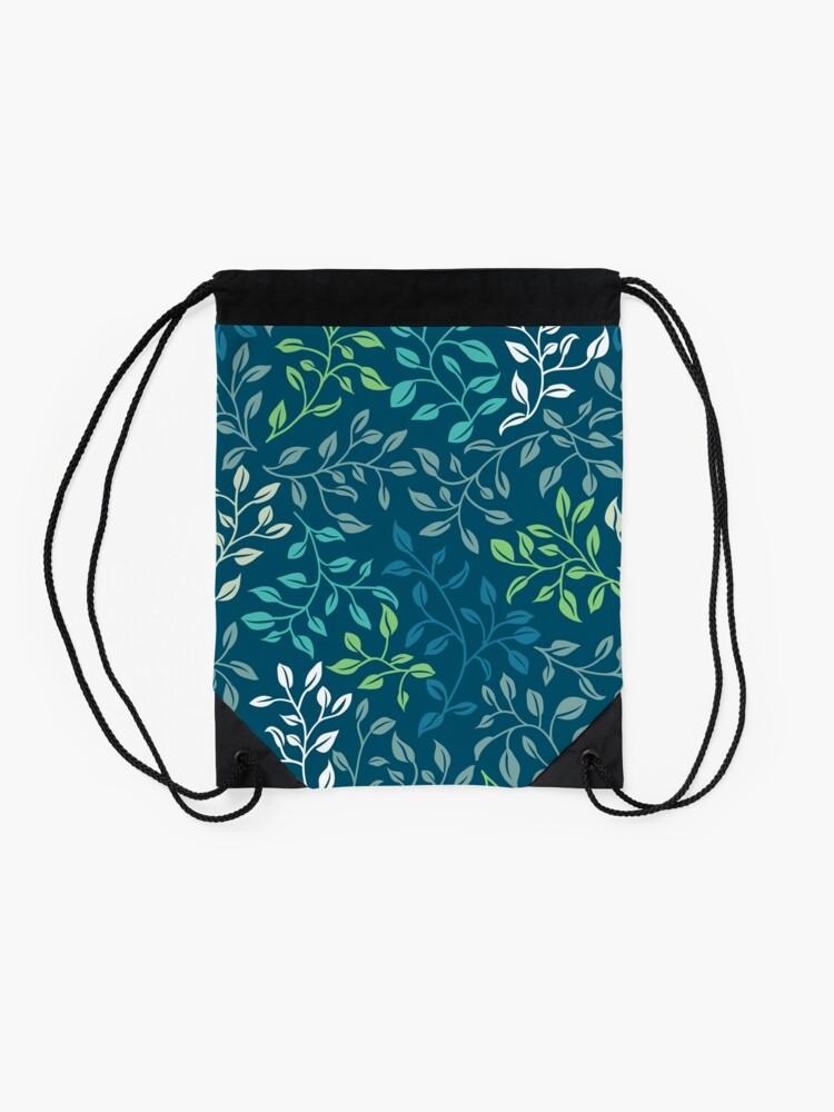 Alternate view of Leafy Tangle Drawstring Bag