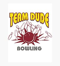 The Dude Bowling T-Shirt Photographic Print
