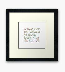 Pizza Framed Print