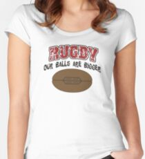 Funny Rugby Women's Fitted Scoop T-Shirt