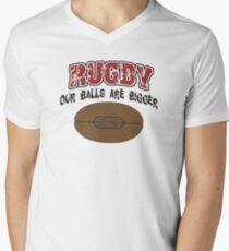 Funny Rugby Men's V-Neck T-Shirt