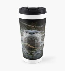 Otter is watching you Travel Mug
