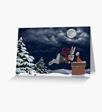 White Rabbit Christmas Greeting Card
