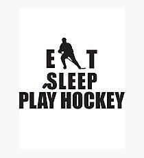 Eat Sleep Play Hockey Photographic Print