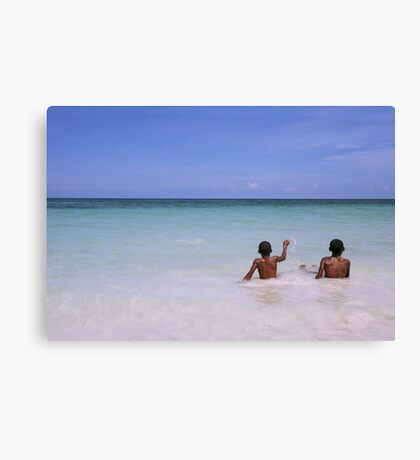 If paradise is half as nice Canvas Print
