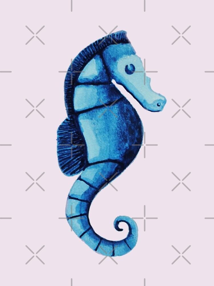 Watercolor seahorse by creativinchi