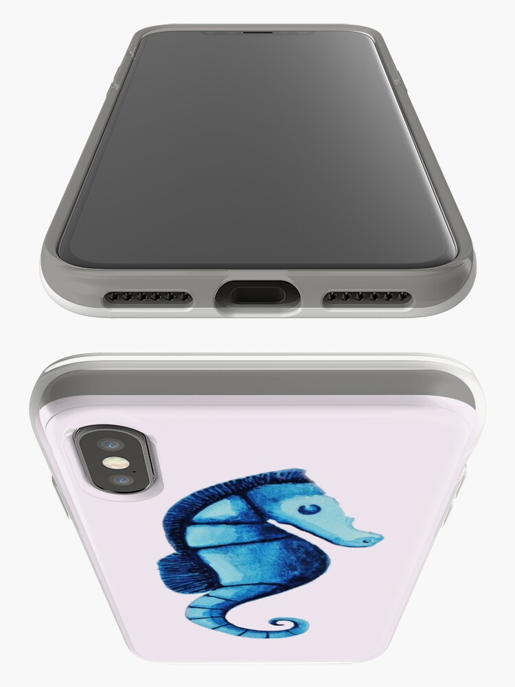 Alternate view of Watercolor seahorse iPhone Case