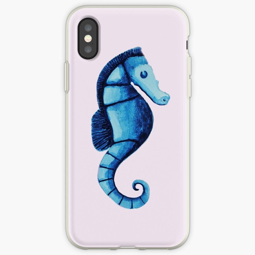 Watercolor seahorse iPhone Case