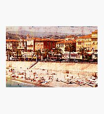city beach in Nice Photographic Print