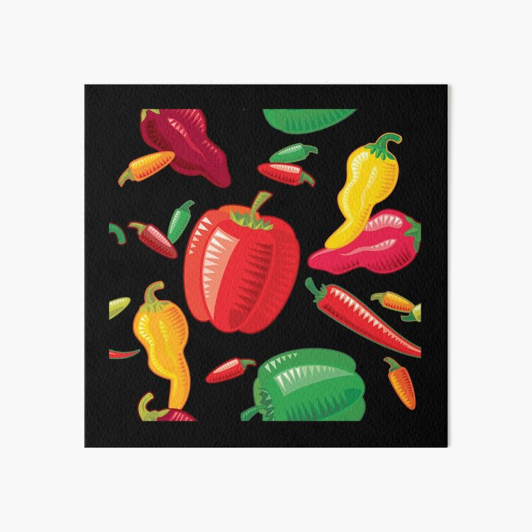 Hot Peppers Art Board Print
