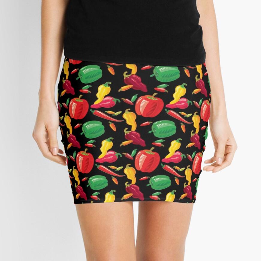 Hot Peppers Mini Skirt