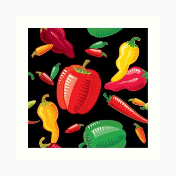 Hot Peppers Art Print