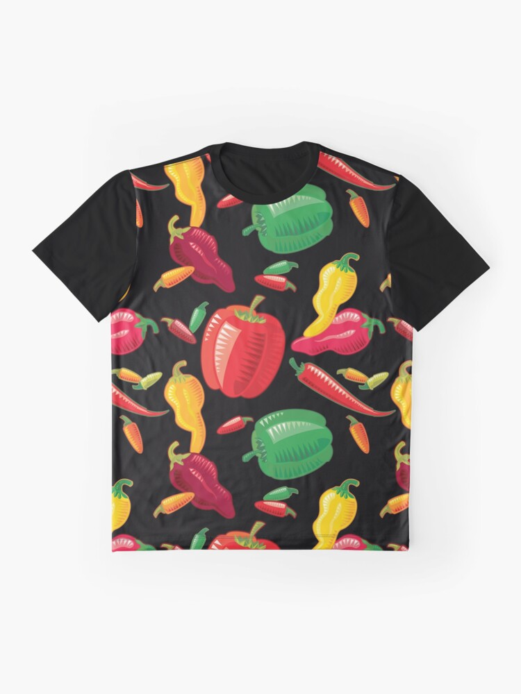 Alternate view of Hot Peppers Graphic T-Shirt