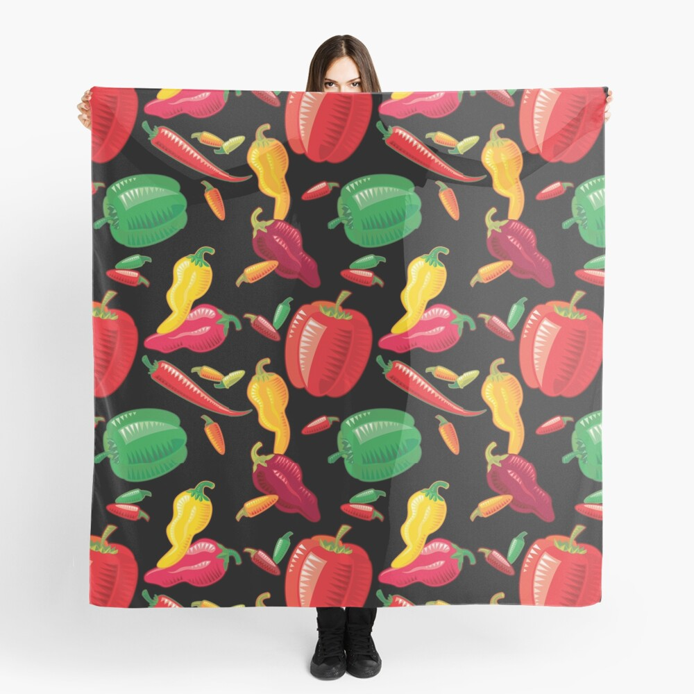 Hot Peppers Scarf