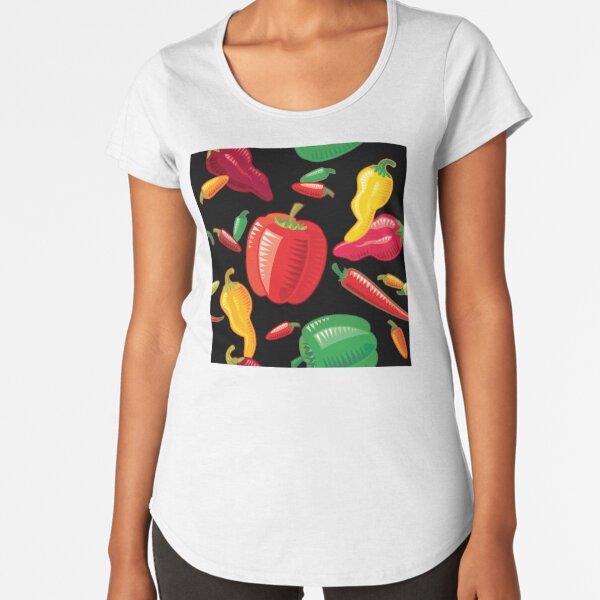 Hot Peppers Premium Scoop T-Shirt