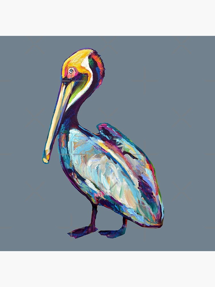 Colorful Pelican by Robert Phelps by RobertPhelpsArt