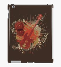 Music Poster with Guitar 6 iPad Case/Skin