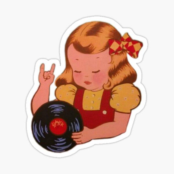 los registros son rad - vibraciones retro Pegatina