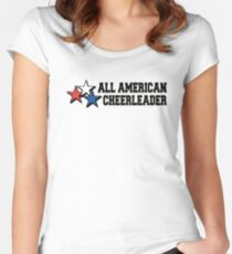 All American Cheerleader Women's Fitted Scoop T-Shirt