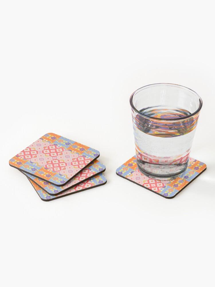 Alternate view of Decorative Ikat Pattern Coasters (Set of 4)
