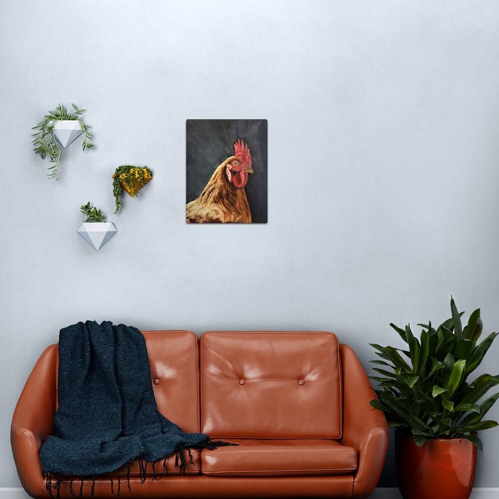 Little Red Hen - Wall Art Metal Print