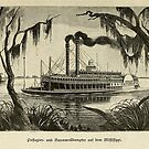 Steamships on the Mississippi, 1881 by edsimoneit